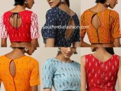 readymade ikat blouses shop online