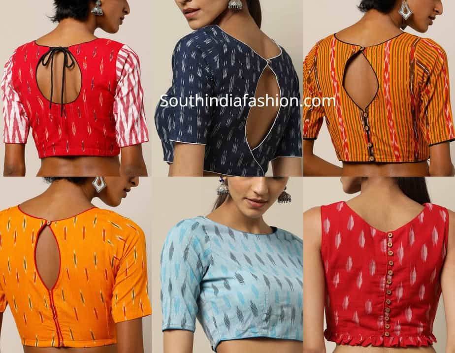 readymade ikat blouses shop online
