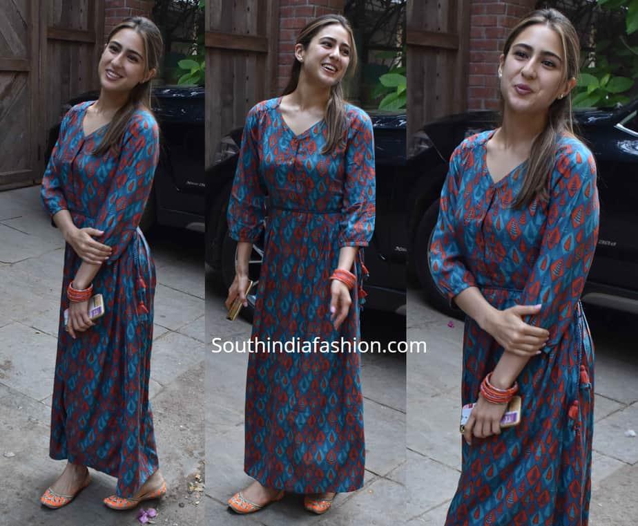 sara ali khan global desi maxi dress