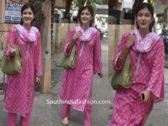 shanaya kapoor pink salwar kameez