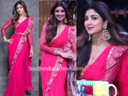 shilpa shetty pink saree super dancer 3