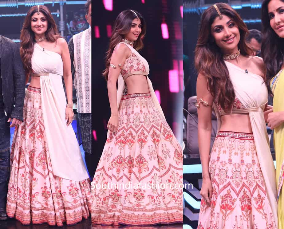 shilpa shetty super dancer lehenga
