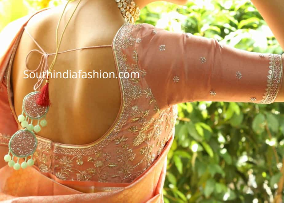 pattu saree blouse simple design