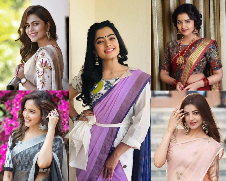 simple saree looks
