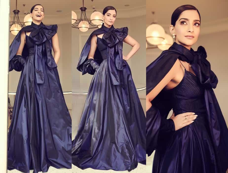sonam kapoor blue gown cannes 2019