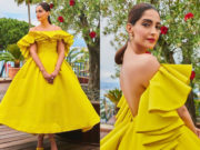 sonam kapoor yellow gown at cannes 2019
