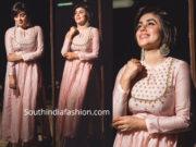 poorna in pink kurta