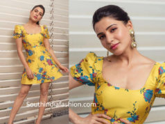 samantha akkineni mini yellow dress