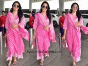 kiara advani pink salwar suit