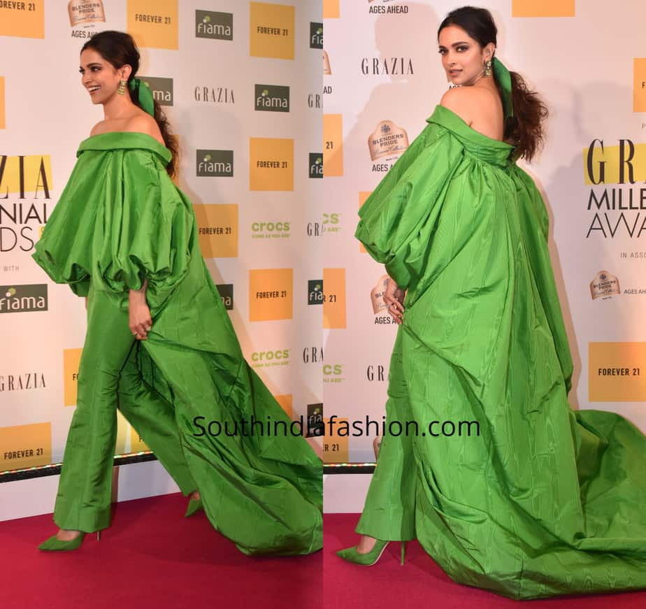 deepika padukone green dress