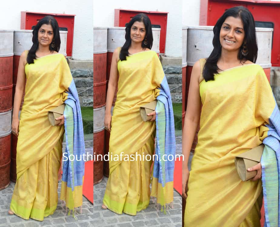nandita das yellow saree