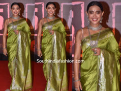 sayani gupta green saree
