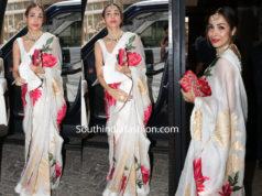 malaika arora in rohit bal floral saree