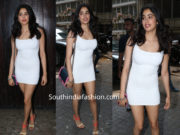 janhvi kapoor white mini dress at sonam kapoor birthday