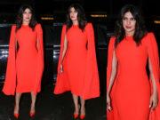priyanka chopra red dress