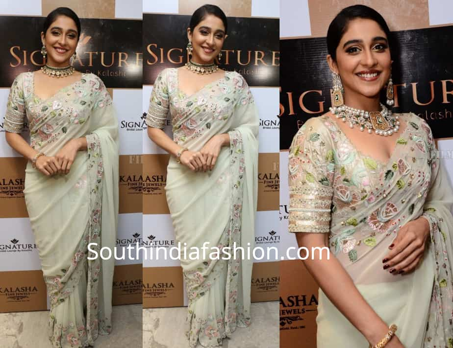 regina cassandra in divya reddy saree