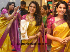 samantha akkineni pattu saree chennai shopping mall launch