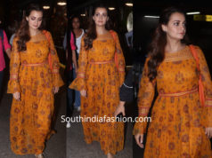 dia mirza in ritu kumar maxi dress