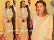 aishwarya dhanush in anvila saree