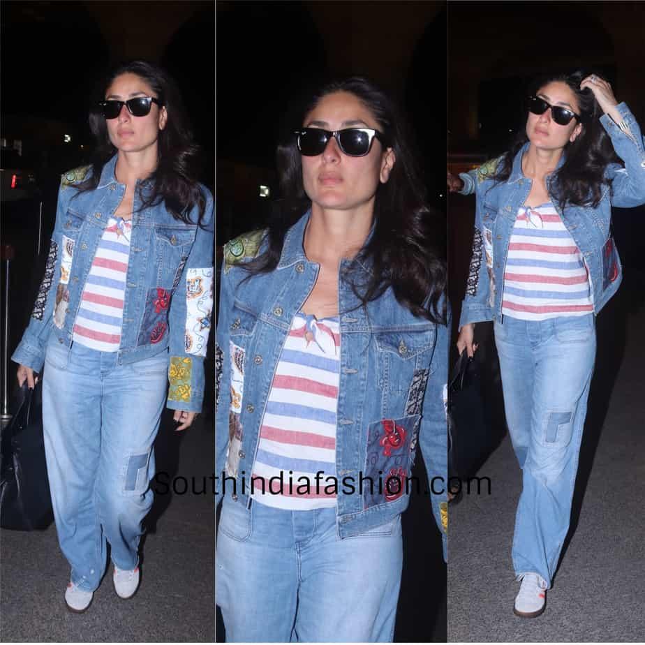 Kareena Kapoor Khan in western wear at the airportKareena Kapoor Khan in western wear at the airport