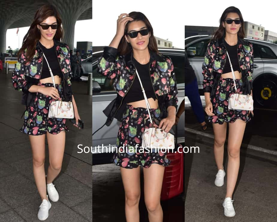 Kriti Sanon's floral look at the airport