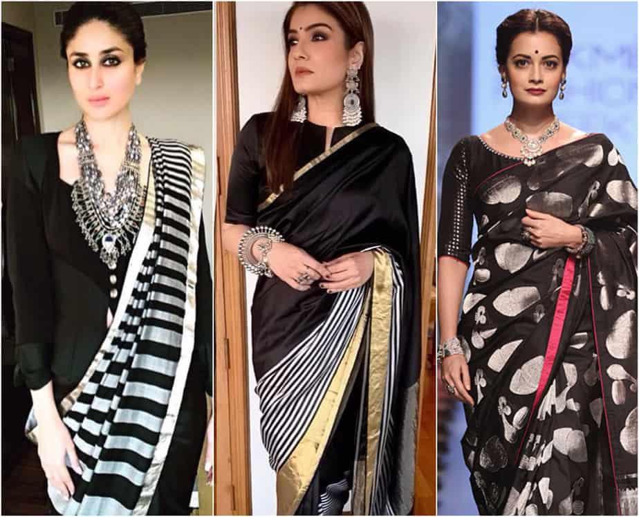 Ways to Style a Beautiful Black Saree