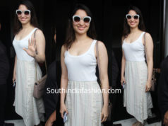 Tamannaah Bhatia in a casual outfit at Bastian Restaurant