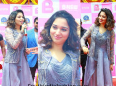 Tamannah Bhatia's contemporary look for B Mobile Launch