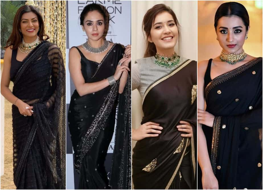 Ways to Style a Beautiful Black Saree