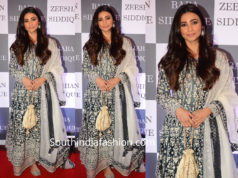 daisy shah blue anarkali at baba siddique iftar party 2019