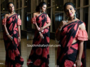 hari teja black saree