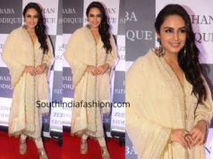 huma qureshi cream salwar kameez baba siddique iftar party 2019