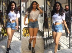 janhvi kapoor shorts