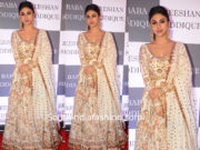 mouni roy in white anarkali at baba siddique iftar party 2019