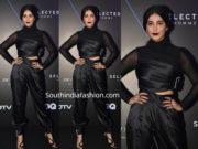 shruti haasan black dress gq best dressed