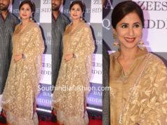 urmila matondkar in gold sharara suit at baba siddique iftar party