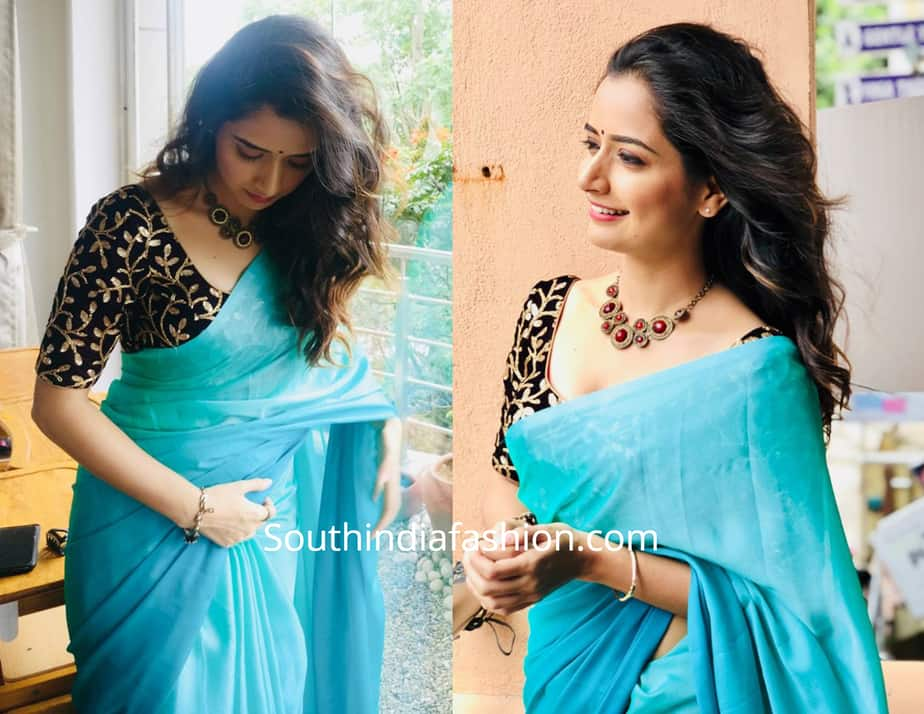 Ashika Ranganath in Indian sarees