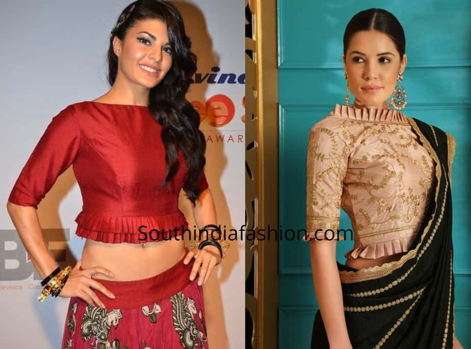 Blouse Designs with pleated sleeves (2)