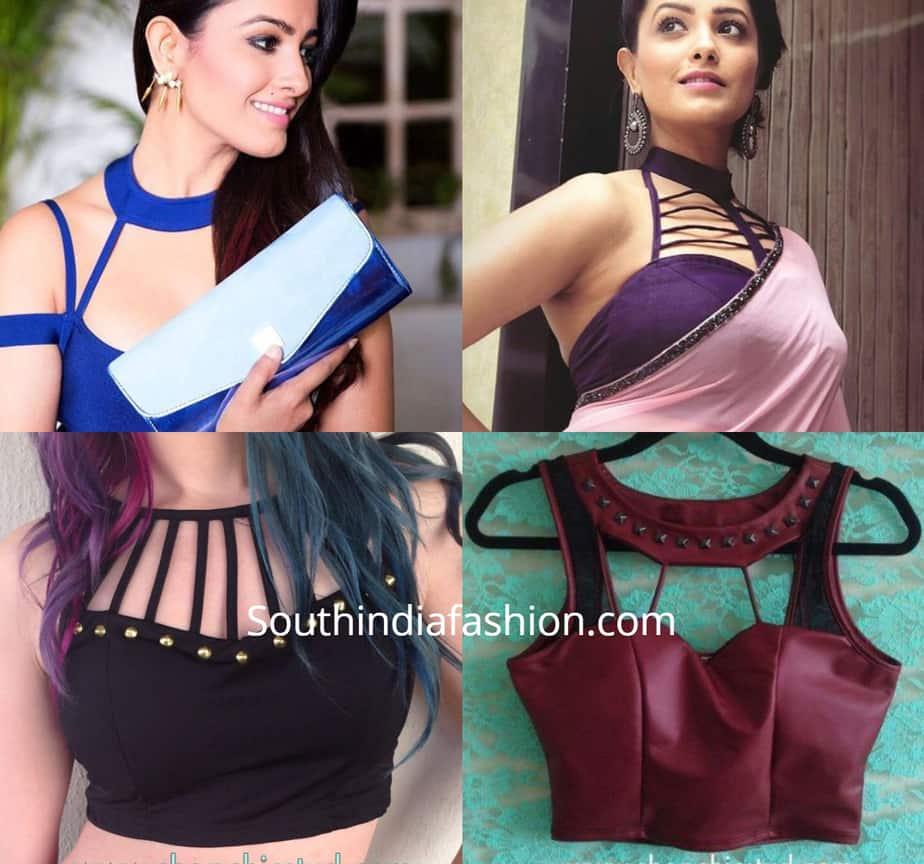 Choker Style Saree Blouse Designs 1