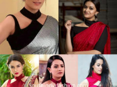 Choker Style Saree Blouse Designs 6