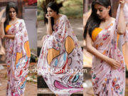 priyamani quirky print saree