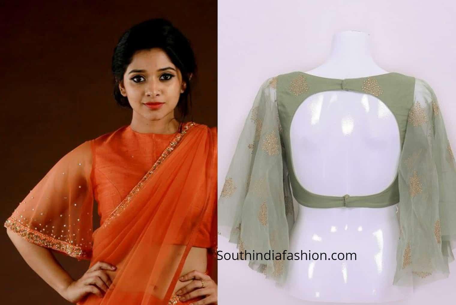 saree blouse sleeve patterns