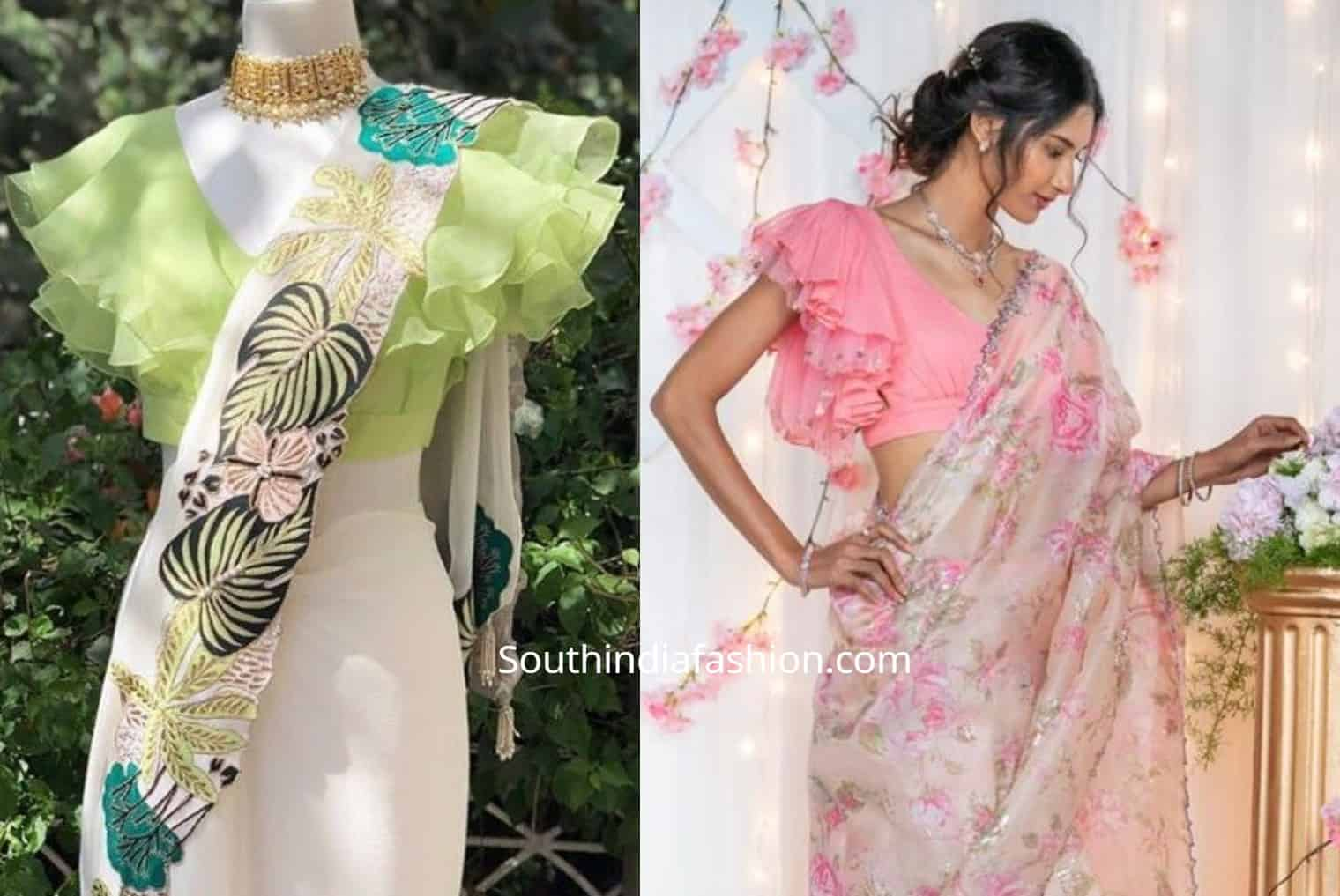 Stylish Saree Blouse Sleeves Designs Statement Sleeves