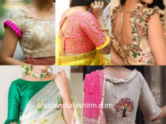 frill saree blouse designs