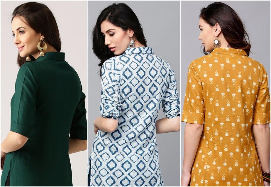 Neck Design For Kurtis With Collar Collar Neck Kurti Designs