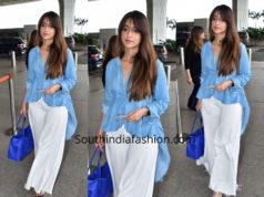 Ileana D Cruz in western wear at the airport