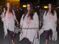 Neha Dhupia in Payal Singhal at the airport