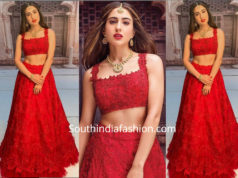 Sara Ali Khan in Anushree Reddy lehenga for an ad shoot