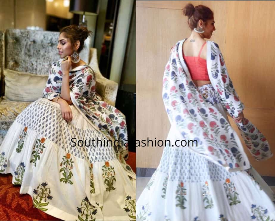 Sharmin Segal in Label Anushree for Malaal Promotions