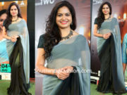 Singer Sunitha in a saree at Melodious Moments with Sunitha Live Concert
